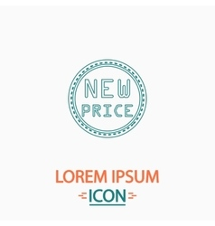 New Price computer symbol vector