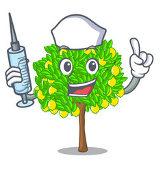 Nurse lemon tree isolated with the mascot vector