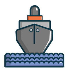 oil tanker icon cartoon style vector image