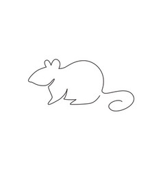 one single line drawing little cute funny vector image