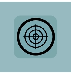 Pale blue aim sign vector