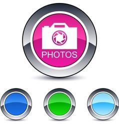 photos round button vector image