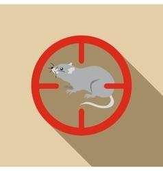 Rat icon flat style vector