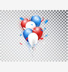 realistic balloons composition in red blue vector image