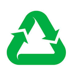 recycling natural green icon environmental and vector image