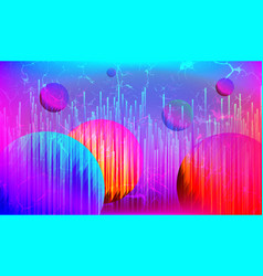 Retro futuristic cyberpunk art background vector