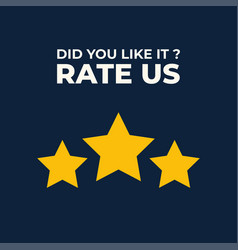 Review us user rating concept and rate us vector