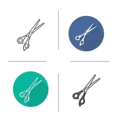 Scissors icons vector image