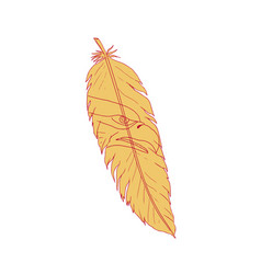 Sea eagle head inside feather drawing vector
