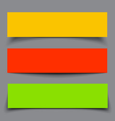 Set of Paper Colorful Banners with shadows vector image
