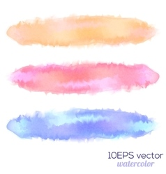 set three watercolor stain vector image