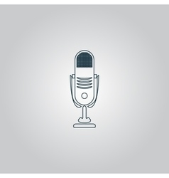 Simple retro microphone vector image