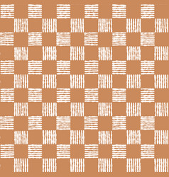Simple seamless pattern of chess cells vector