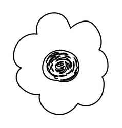 sketch contour of hand drawing flower vector image