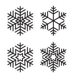 snow flak set vector image