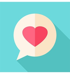 Speech bubble with heart vector