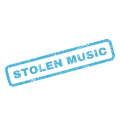 Stolen Music Rubber Stamp vector image