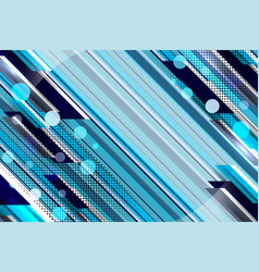 Stripe and lines blue background vector