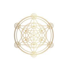 Sucred geometry spirituality vector