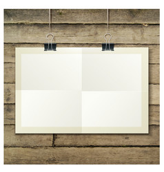 template of a paper sheet -poster picture frame vector image