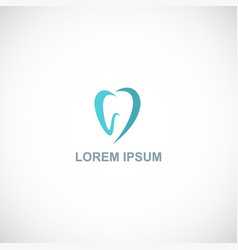 tooth abstract logo vector image
