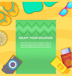 Travel concept beach cartoon style vector