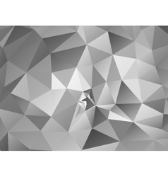 Triangle background Gray polygons vector
