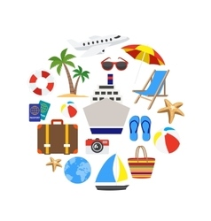 Vacation Decorative Icons Set vector