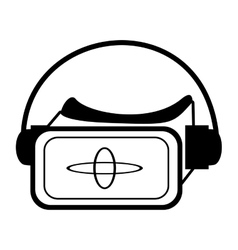 vr glasses smart high technology outline vector image