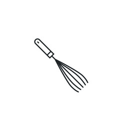 Whisk icon mixer kitchen beater cooking vector