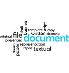 Word cloud document vector