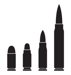 bullets vector image