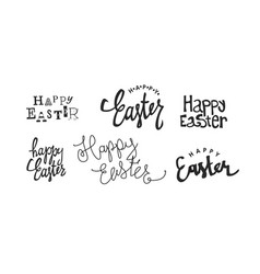 calligraphy logotypes holiday logos set holiday vector image