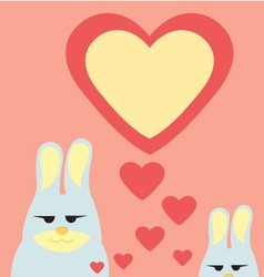 rabbit in valentine vector image