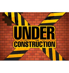 Under construction site template vector image