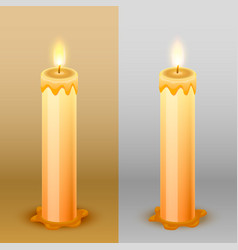 candles on the background template design element vector image