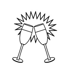 champagne cups toast vector image