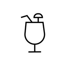 coctail icons vector image