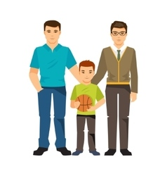 Gay couple with a child vector image
