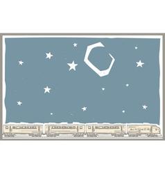 Night Sky Train vector image