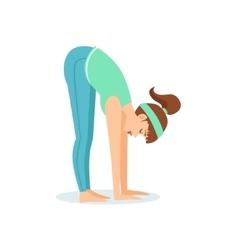 Standing forward bend uttanasana yoga pose vector