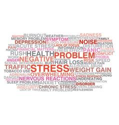 Stress symptoms vector image
