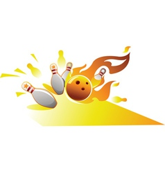 design element for bowling sport vector image vector image