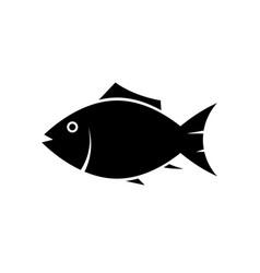 fish icon silhouette vector image vector image