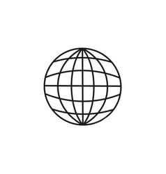 globe of land icon vector image