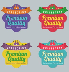 Set of Colorful Badge Labels vector image vector image