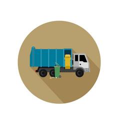 garbage truck vector image vector image