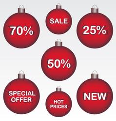 Sale Christmas ball vector image vector image