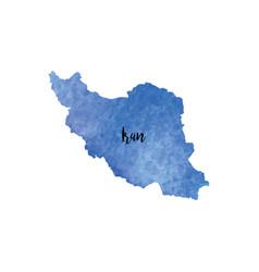 abstract iran map vector image