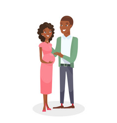 african american couple vector image